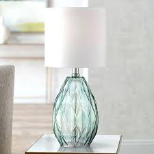 amazing blue green glass accent table lamp picture design