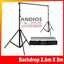 2 6mx3m portable backdrop background stand kit photo shoot studio diy 11street malaysia storage batteries