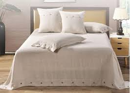pure linen wooden ons modern bedding sets 4pcs real simple logo customized
