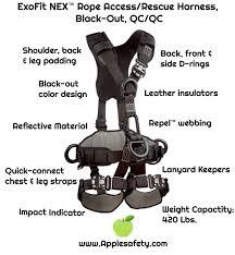 Dbi Sala Exofit Size Chart 1113370 Exofit Nex Rope Access Rescue Harness Black Out Qc Qc