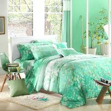mint green bedding set queen comforter and gray