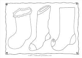 Small Picture Coloring Page Printable Christmas Stocking Coloring Pages