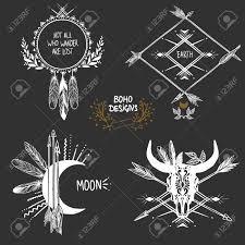 Bohemian designs. Vector set. Stock Vector - 43321545