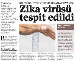 """Bülent Mumay a Twitter: """"#GözdenKaçmasın Rusya, Türkiye'ye gidecek  vatandaşlarını uyardı: """"Dikkat, Türkiye'de zika virüsü var."""" (Kupür:  BirGün)… https://t.co/4Ug6HKn2sX"""""""