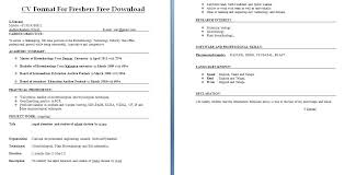 Download Free Resume Format For Freshers Latest Resume Formats For