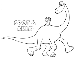 Small Picture the good dinosaur arlo and spot coloring pages Kids Coloring Pages