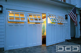 swing out garage doorsReal swingout carriage garage doors with functional awning
