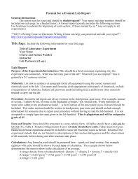 Formal Lab Report Format F14