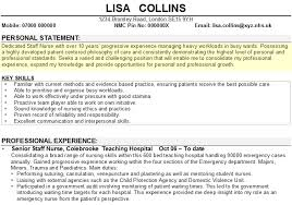 Cv Professional Statement Resume Personal Statement