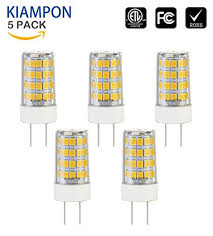 G8 Light Fixtures Kiampon Dimmable Ceramic G8 4w Led Bulb For Under Cabinet Light For 40w Halogen Bulb Equivalent Warm White 3000k 5 Pack