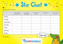 Free Reward Star Chart For School Holidays Printer Ink