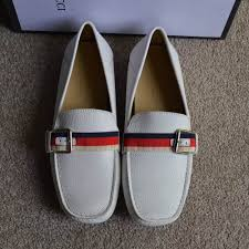 gucci white leather driver with sylvie web buckle dopestkickz