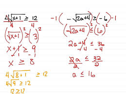 solving radical equation math solving radical equations and inequalities math algebra 2 radicals square roots inequalities
