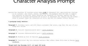 character analysis essay google slides