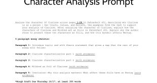 character analysis essay google slides