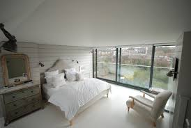 Loft Conversion Bedroom Contemporary Loft Conversion Bedroom With Full Width Sliding Glass
