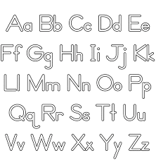 Alphabet Coloring Pages Simple Alphabet Pages To Color