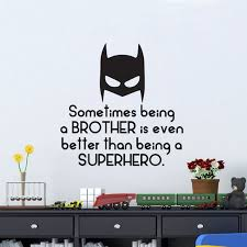 superhero wall decals canada sometimes being a brother is even better than being a superhero vinyl
