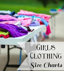 Girls Clothing Size Charts Size 4 16 Happy Little Homemaker
