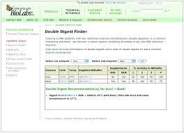 Rational Neb Enzyme Compatibility Chart Neb Restriction