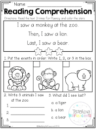 Reading Comprehension Worksheets For Elementary Students Reading ...