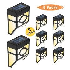 Clip On Solar Deck Lights Details About Otdair Solar Deck Lights 2 Modes Night Lights Wall Mount Fence Post Lights Led