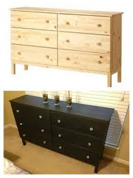 diy ikea tarva dresser. Ikea Tarva Dresser Refinished With Annie Sloan Chalk Paint In Graphite Clear Wax Finish And Diy