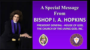 A Special Message from Bishop Ivy A.... - Church of the Living God