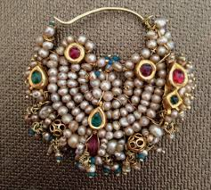 jewellery wikipedia Wedding Jewellery History antique pearl & gold nose ring, india, 19th century Beautiful Jewellery