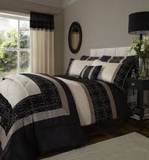 catherine lansfield geo embellished double bed duvet cover set