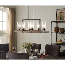 illuminate your home with the rustic charm of the vineyard 6 light metal and wood dining room lighting rusticdining table