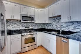 black granite countertops with tile backsplash. Fantastic Gray White Kitchen Backsplash Tile Like Stone Patterns As Decoaret In Decors Ideas Black Granite Countertops With