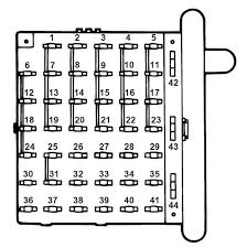 ford e series e 350 e350 1997 fuse box diagram auto genius ford e series e 350 fuse box instrument panel