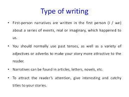 Point Of View 4th Grade   Lessons   Tes Teach furthermore The 25  best First person writing ideas on Pinterest   Journal as well Features of Narrative Writing   ppt download in addition pare Contrast  Informal Writing and Formal Writing further Mistakes in scientific writing also First  Second and Third Person Narration Posters Teaching Resource as well  also Some  Rules  For Writing Dialogue   The Beginning Writer besides  additionally Can the first person   I  and  we   be used in scientific writing in addition Types of Writing in 7 th Grade English Informational Essay. on latest writing in first person