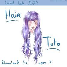 hair tutorial on paint tool sai by dollneko