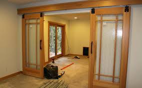 barn door style glass shower doors the shoppe a division of alum .