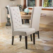 high back dining chairs set of 2 tufted high back linen parsons dining chairs xowekqe h72