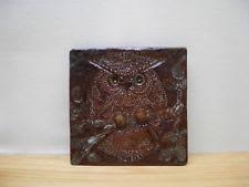 owl tea tile bird red clay wall tile country art pottery animal almond ny on clay wall art pottery with art pottery red clay pottery vase