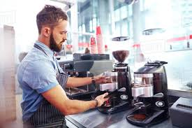 See more ideas about coffee, coffee barista, coffee love. Barista Making Coffee In Cafe Stock Photo Dissolve