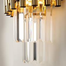 Crystal Wall Lights Luxurax Gold Led Wall Sconce Lighting Living Room Bedroom Crystal Wall Lamps Ac110 240v Indoor Lighting
