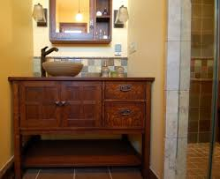 arts crafts bathroom vanity: craftsman style bathrooms photos arts crafts style bathroom renovation bathroom of awesome stained oak vanity