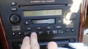 1999-2003 Acura 3.2TL Radio Error Code Repair - YouTube