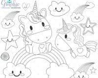 Disegno Di Gatto Unicorno Kawaii Da Colorare Disegni Da