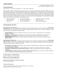 architect resume format architecture resume example