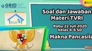 Kalender pendidikan 2020 dan 2021. Kunci Jawaban Soal Kelas 4 6 Sd Materi Makna Pancasila Tvri Belajar Dari Rumah Rabu 22 Juli 2020 Tribunnews Com Mobile