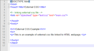 Link Css To Html Page Css Examples Html Css Texts