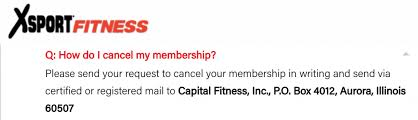 xsport fitness cancel my membership