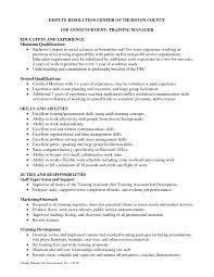 Resume Writings Unique Training On Cv International Facilitator Job