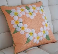 296 best images about Almofadas on Pinterest   Applique pillows ... & Super fine fabric ☆ handmade Hawaiian quilt Cushion cover Kit hk10017 Adamdwight.com