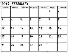february printable calendar 2019 60 best february 2019 calendar printable templates images